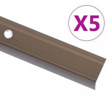 5 db barna L-alakú alumínium lépcsőélvédő 100 cm építőanyag
