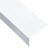 5 db L-alakú fehér 90°-os alumínium profil 170 cm 60 x 40 mm építőanyag