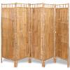 5 paneles szobaelválasztó fal bambusz 200x160 cm