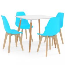 5 részes kék étkezőszett bútor