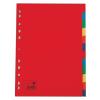 5 Star Regiszter, karton, A4, 12 részes, , színes