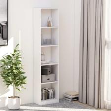 5-szintes fehér forgácslap könyvszekrény 40 x 24 x 175 cm bútor