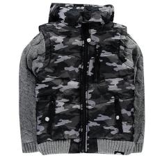 No Fear gyerek dzseki - No Fear Knit Sleeve Jacket Junior Camo