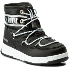 Moon Boot Hótaposó MOON BOOT - We Jr Mid Wp 34051200001 Nero/Argento