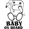 Gungldekor Játszós baby on board 2 db plottervágott autós matrica applikáló fóliával