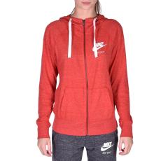 Nike W Nsw Gym Vntg Hoodie Fz női cipzáras pulóver piros XL