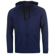 Nike Dry férfi kapucnis cipzáras pulóver kék S