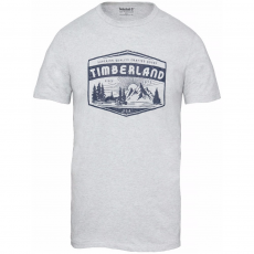 TIMBERLAND SS Kennebec River Logo Lived In Graphic Tee Póló,trikó D (A1OWN-r_H47-Picket Fence Jaspe)