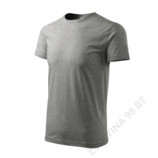 ADLER Heavy New ADLER pólók unisex, sötétszürke melírozott