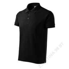 ADLER Cotton Heavy ADLER galléros póló férfi, fekete