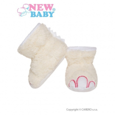NEW BABY Baba papucz New Baby Dino bézs | Bézs | 0-6 m