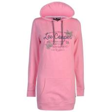 Lee Cooper női kapucnis pulóver - Lee Cooper Long Line Hooded Sweater Ladies Pink