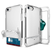 Spigen iPhone 7/8 Flip Armor hátlap, tok, ezüst