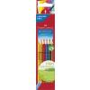 """Faber-Castell Színes ceruza készlet, háromszögletű, FABER-CASTELL """"Grip 2001"""", 6 különböző szín"""