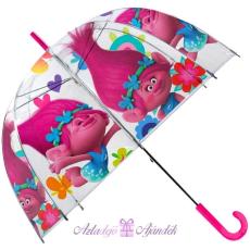Gyerek átlátszó esernyő Trolls, Trollok Ø70 cm
