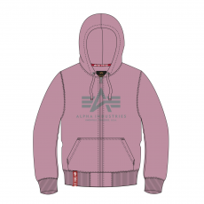Alpha Indsutries Basic Zip Hoody - silverpink