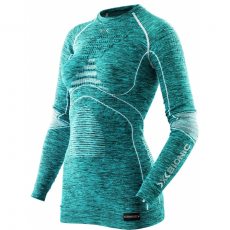 X-Bionic Energy Accumulator EVO Melange women shirt - lake blue melange / white - S/M