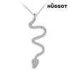 Hûggot Snake Hûggot 925 sterling ezüst nyakék cirkóniakövekkel 45 cm