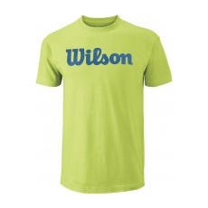 Wilson M Script Cotton Tee Green/Deep Water M