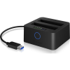 RaidSonic Icy-box IB-2502CL-U3 Dockstation 6,3cm 2x HDD SDD USB3.0