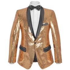 vidaXL férfi szmoking arany flitteres blézer 56-os méret