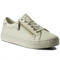 Tommy Hilfiger Félcipő TOMMY HILFIGER - Star Jeweld Leather Sneaker FW0FW02674 Whisper White 121