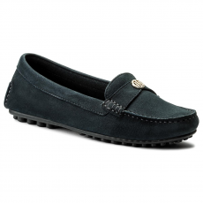 Tommy Hilfiger Mokaszin TOMMY HILFIGER - Moccasin With Chain Detail FW0FW02783 Midnight 403