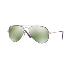 Ray-Ban RJ9506S 262/30 JUNIOR AVIATOR SILVER TOP ON VIOLET GREEN FLASH SILVER gyermek napszemüveg
