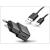 Samsung gyári USB hálózati töltő adapter + USB Type-C adatkábel - 5V/2A - ETA-U90EBEG + EP-DG950CBE Type-C black (ECO csomaglás)