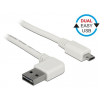 DELOCK Cable USB Micro AM-BM 2.0 2m White Angled Left/Right USB-A Dual Easy-USB