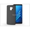 Samsung A730F Galaxy A8 Plus (2018) szilikon hátlap - Soft - fekete