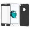 Hurtel Wozinsky elő+hátlapi 3D teljes kijelzős edzett üvegfólia 9H keménységű alumínium kerettel, iPhone 7, acél ezüst