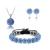 Swarovski kristályos szett. Nyaklánc, medál, karkötő, fülbevaló. V.kék. 114-1ec