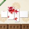 Képáruház.hu Premium Kollekció: Vörös japán juharfalevél fehér háttéren(125x70 cm, S02 Többrészes Vászonkép)