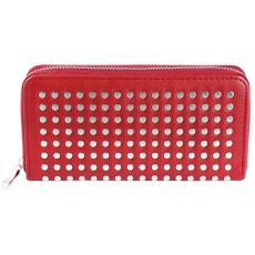 Trendi Női Pénztárca, szegecsekkel (19x10), piros