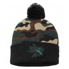 New Era San Jose Sharks TĂŠli sapka New Era Camo Top 2 Woodland Knit Beanie