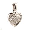 Fehér arany szív medál - MK0109F