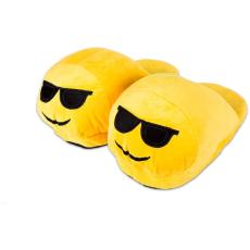 HappyFace: szemcsis emoji papucs - felnőtt méret