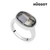 Hûggot Rodio Night Hûggot ródiumozott gyűrű Swarovski® kristályokkal, 16,8 mm