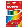 """KORES Színes ceruza készlet, háromszögletű, KORES \""""Triangular\"""", 36 különböző szín [36 db]"""