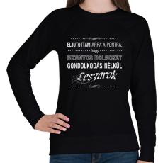 PRINTFASHION bizonyos-dolgokat-1-white - Női pulóver - Fekete