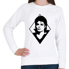 PRINTFASHION Michael Jackson - Női pulóver - Fehér