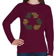PRINTFASHION Újrahasznosítás - Női pulóver - Bordó