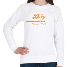 PRINTFASHION baby-loading-orange-white - Női pulóver - Fehér