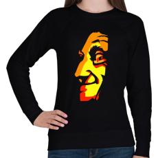 PRINTFASHION Face - Női pulóver - Fekete