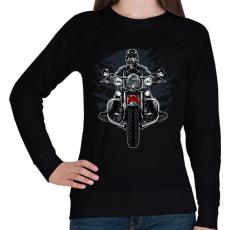 PRINTFASHION Vad motoros - Női pulóver - Fekete