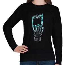 PRINTFASHION Elektro Heavy Metal - Női pulóver - Fekete