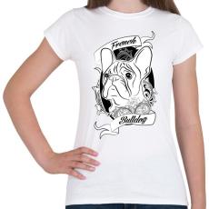 PRINTFASHION french bulldog - Női póló - Fehér