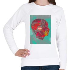 PRINTFASHION Ideg - Női pulóver - Fehér