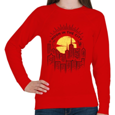 PRINTFASHION Holdfény  - Női pulóver - Piros